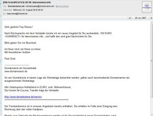 Domainverkauf-Abzocke